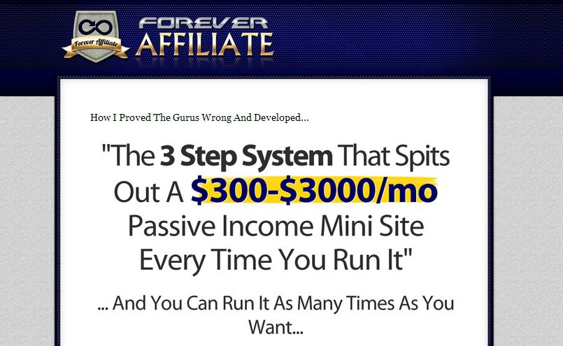 Forever Affiliate Review – Not A Scam, But Surprising All The Same