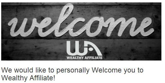 wealthy affiliate welcome