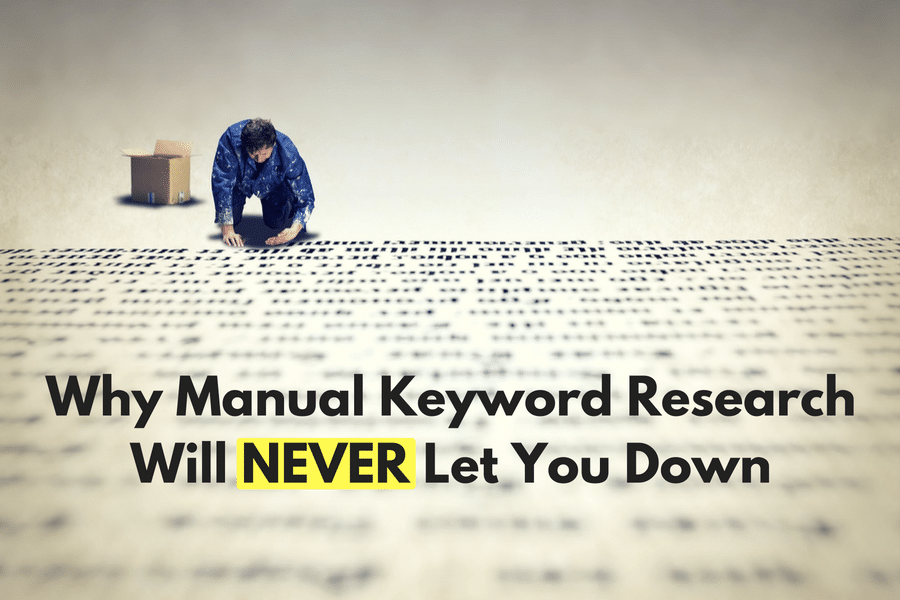 manual keyword research for SEO