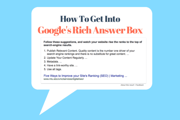How to get into Google answer box