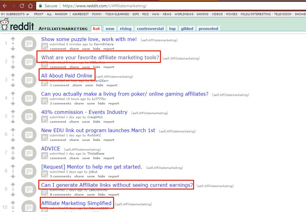 Keyword Research For SEO 2017 - using reddit