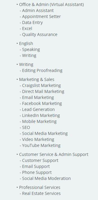 list of skills